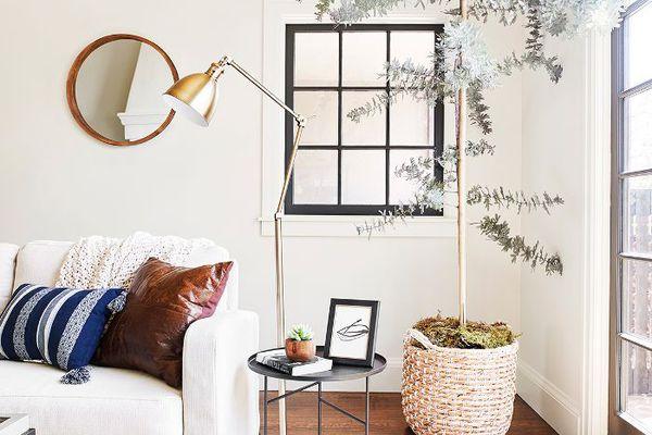 Neutral living room—Emily Henderson