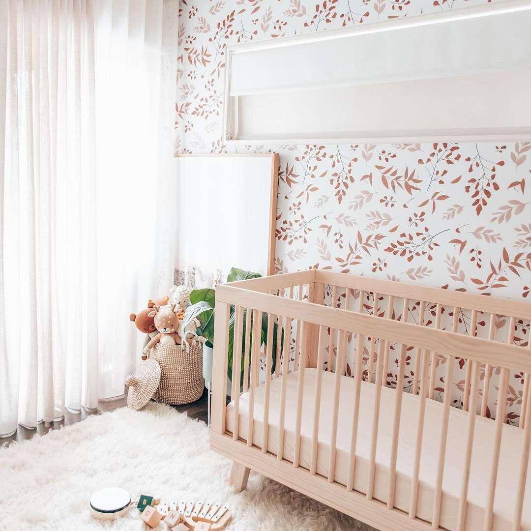 Plant print wall in nursery