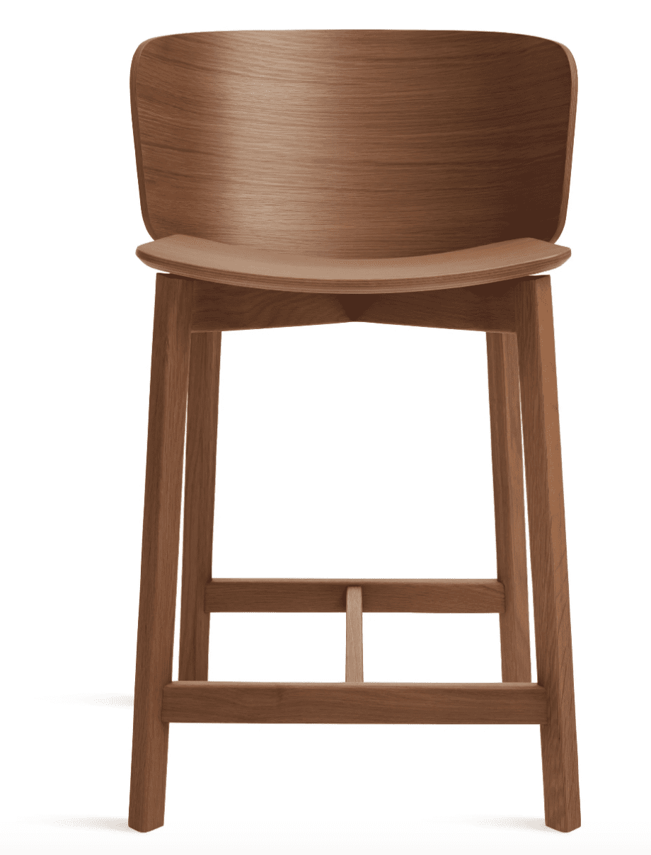 Buddy Counter Stool in Walnut by Blu Dot