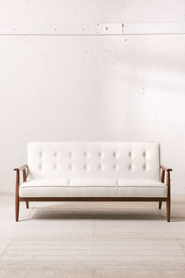 Urban Outfitters Wyatt Faux Leather Sofa
