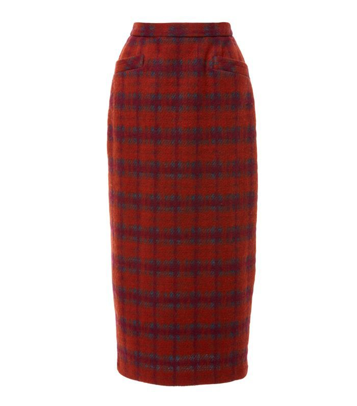 Brushed Tartan Skirt