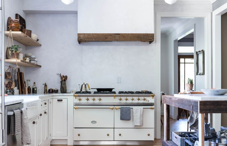 Kitchen with extra large gas stove