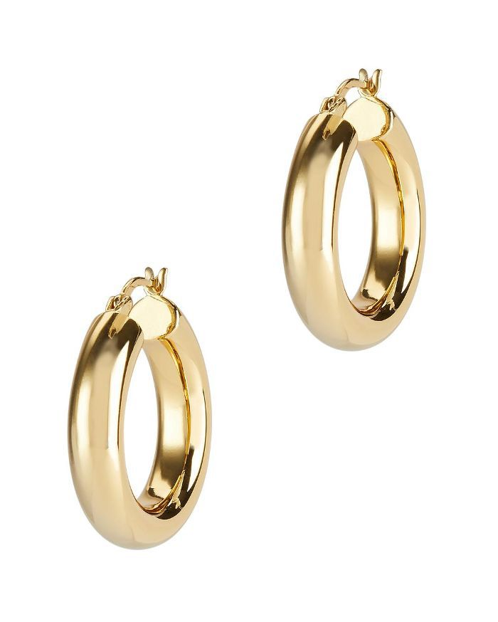 Argento Vivo Mini Hoops Gold 1SIZE