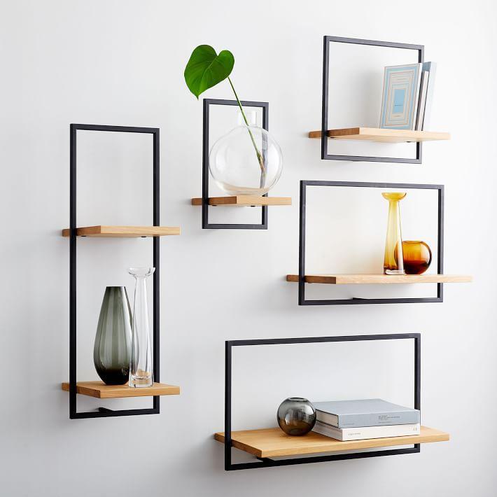 West Elm Shelfmate wood & metal shelves collection