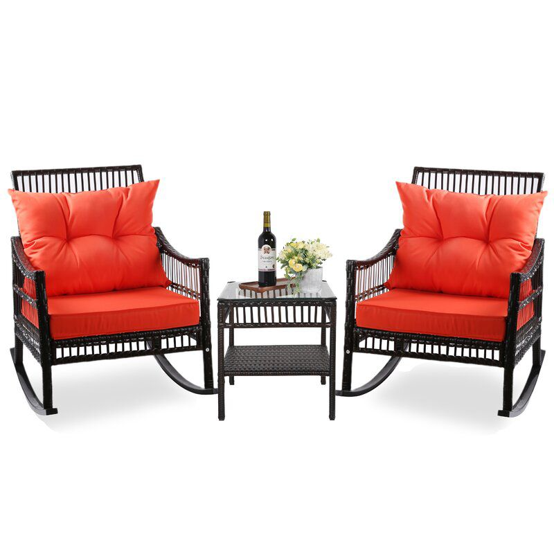 Bayou Breeze Melra Rocking Chairs with Cushions
