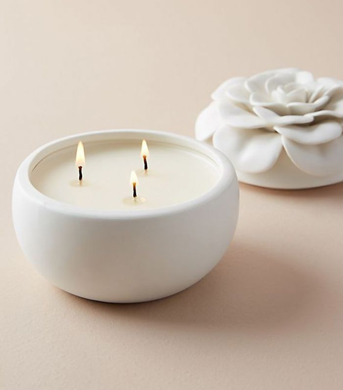 Ceramic Flower Candle