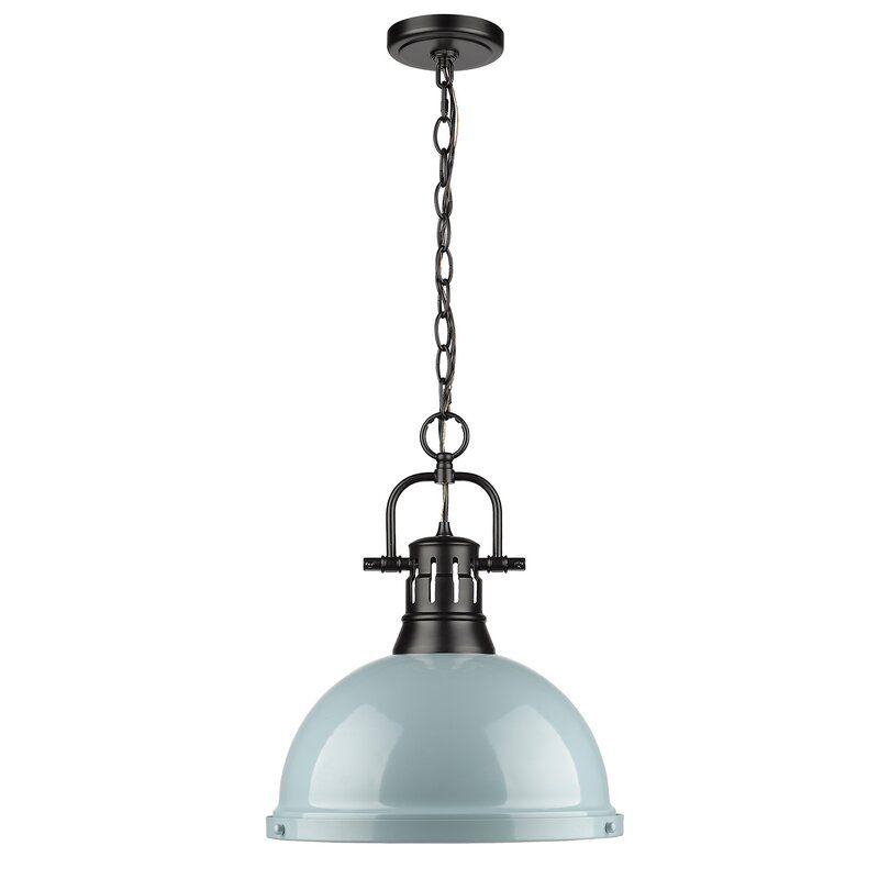 A blue farmhouse light, currently for sale at Wayfair