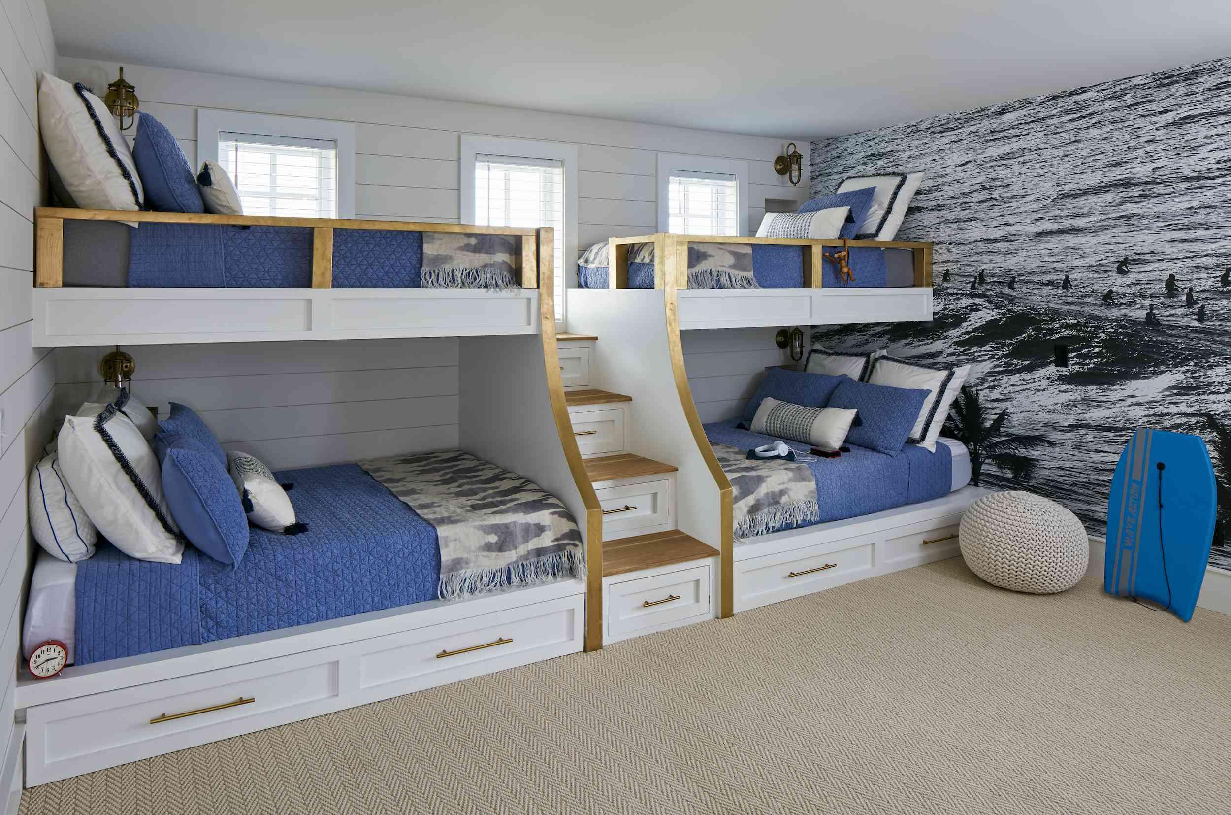 Blue beachy bunk beds