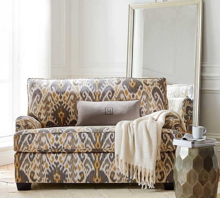 PB English Arm Upholstered Twin Sleeper Sofa