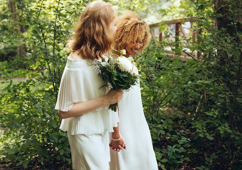 Hermosa pareja el día de su boda