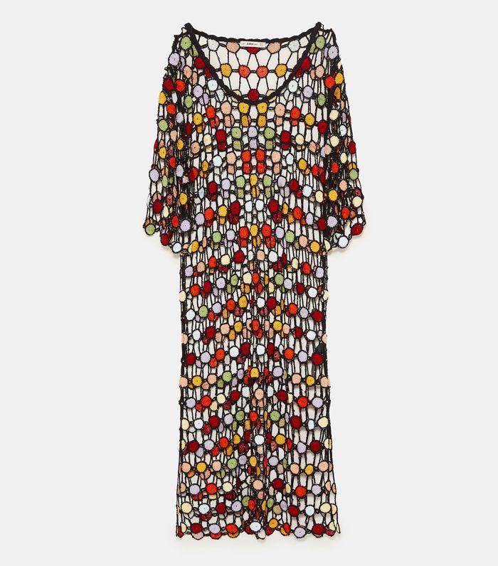 Zara Multicolor Crochet Dress