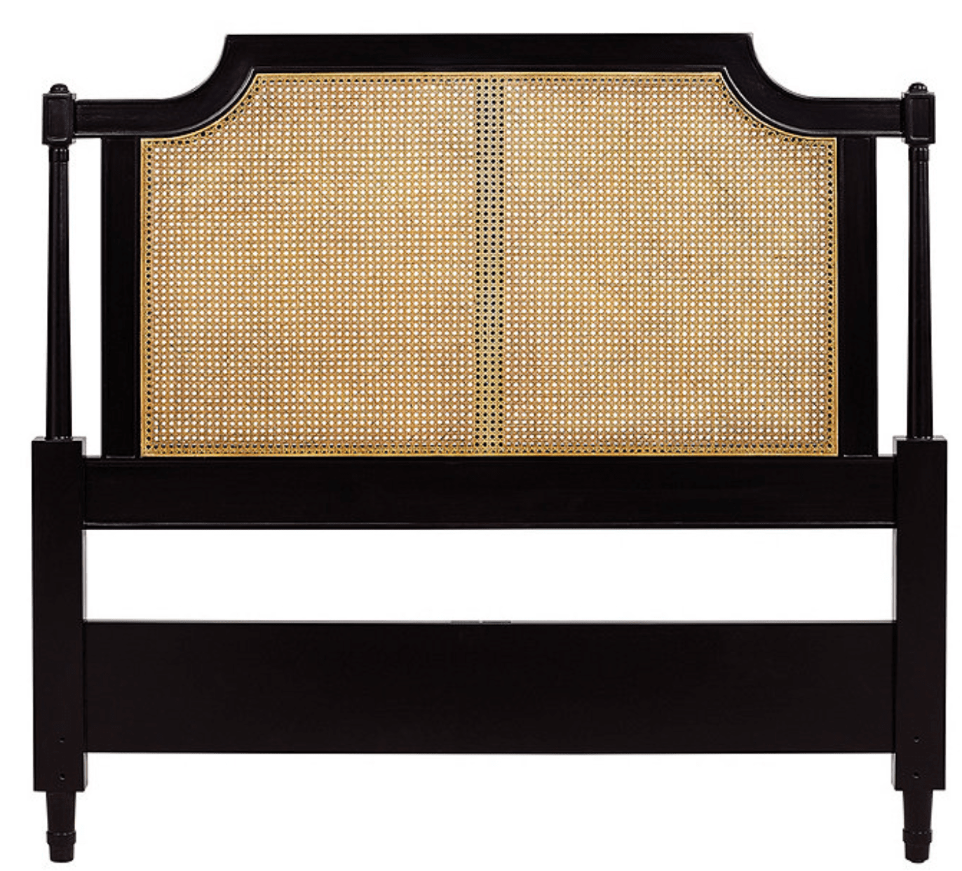 black bedroom cane headboard ideas