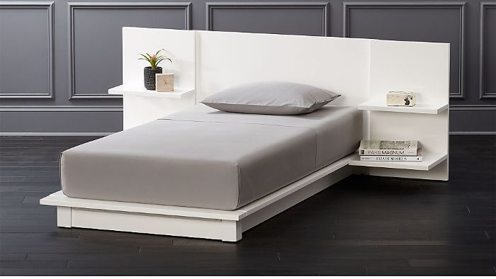 CB2 Andes White Twin Bed