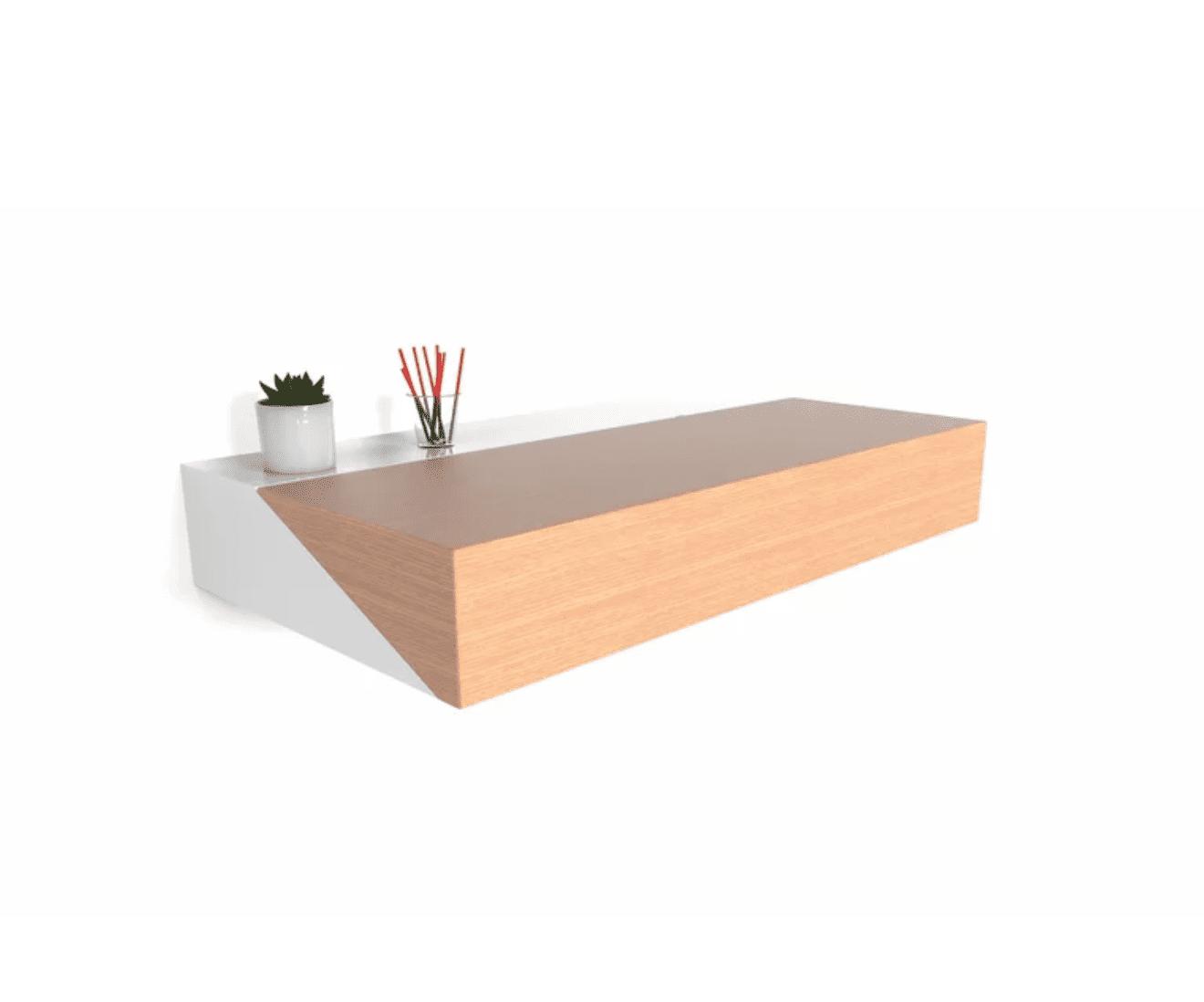 floating shelf desk