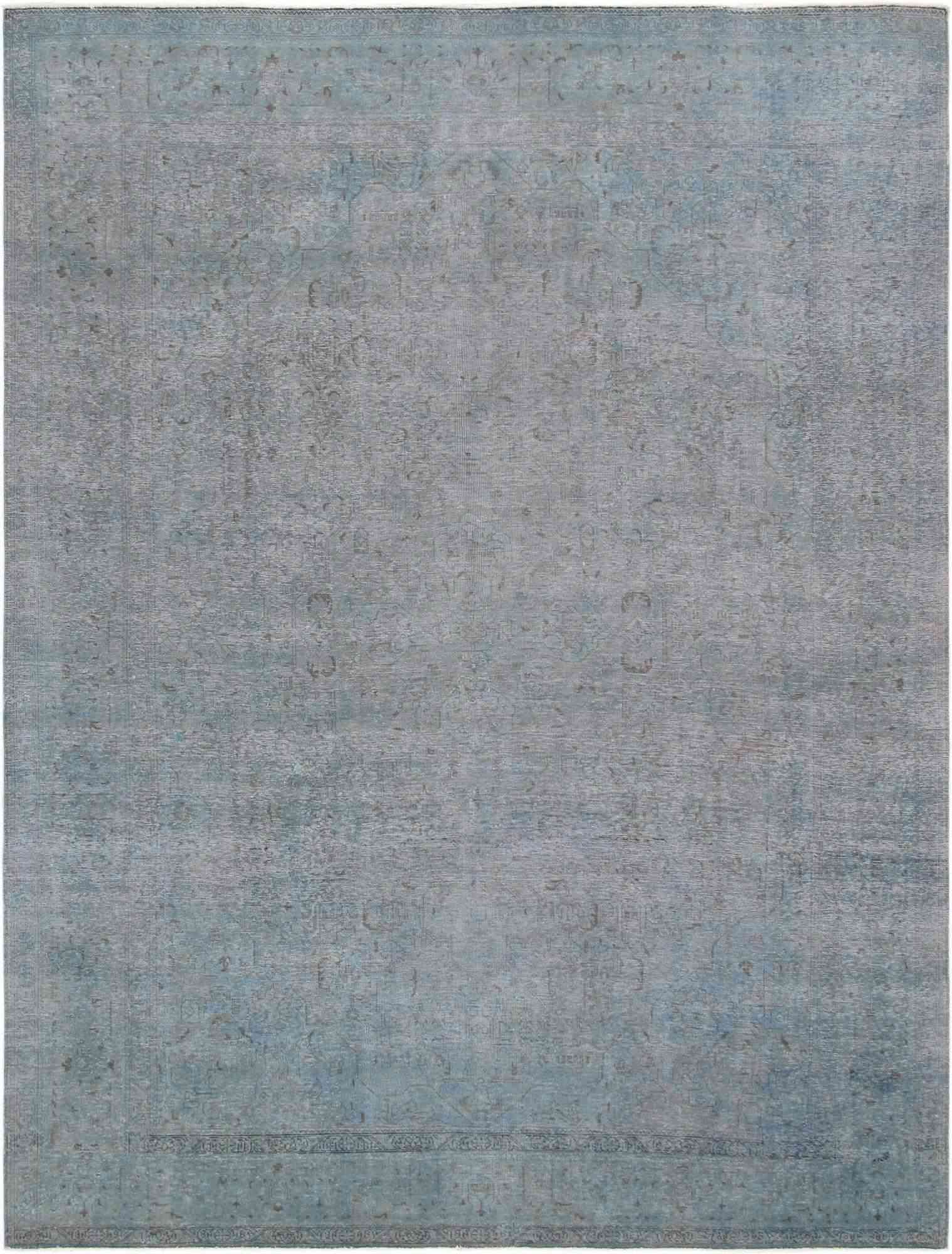 A blue overdyed rug.