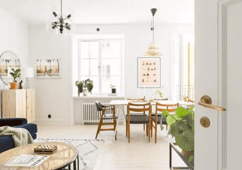 Open floor plan apartment