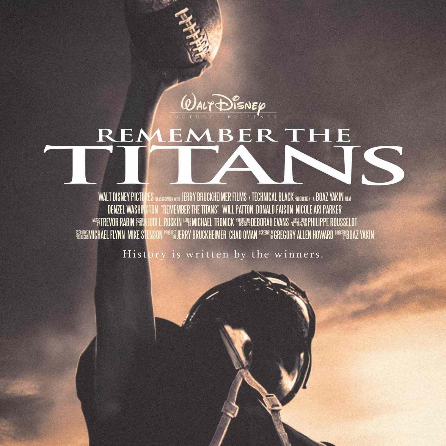 Remember the Titans movie poster.