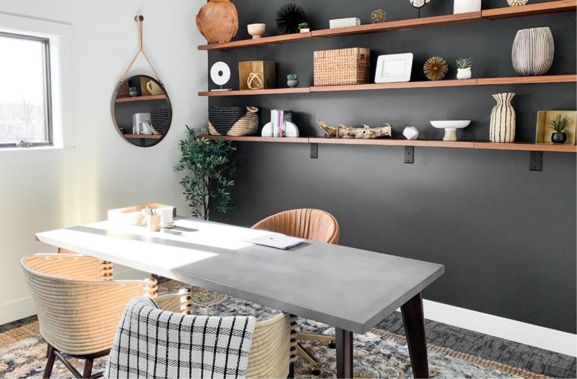 Makeover of the Week Alessandra Wood Office Makeover