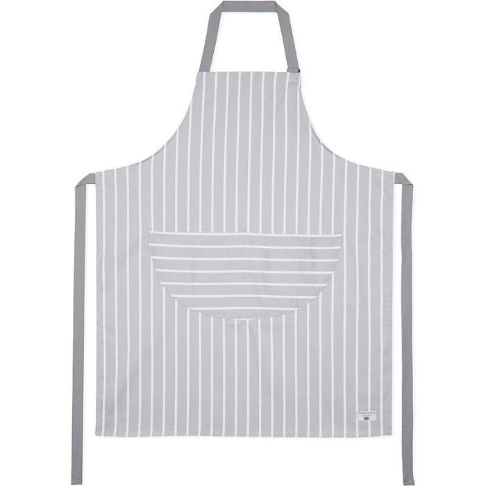 Grey butchers stripe adult apron