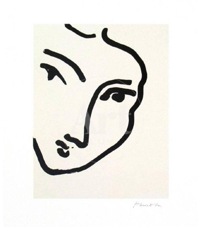 Henri Matisse Nadia au Menton Pointu, 1948 Art Print