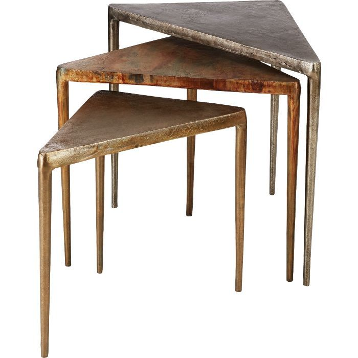 CB2 3-Piece Magma Metal Nesting Table Set
