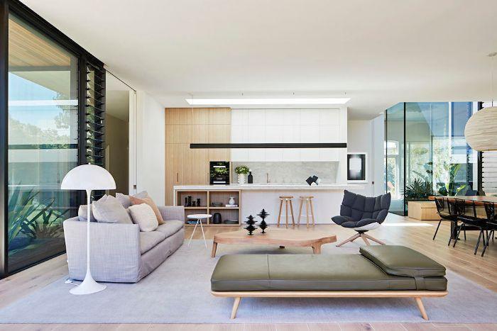 open-plan living room—Australian design