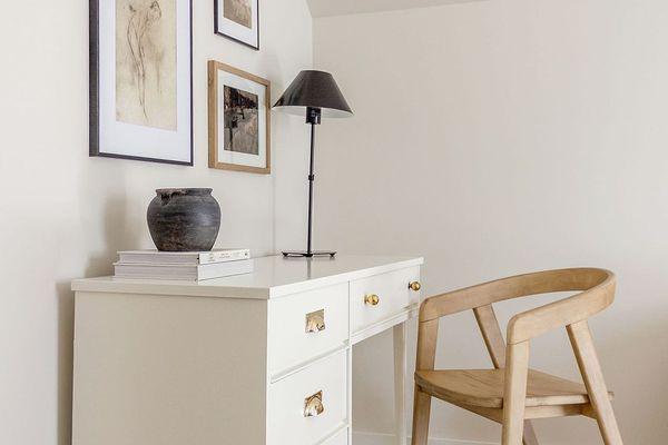White airy home office