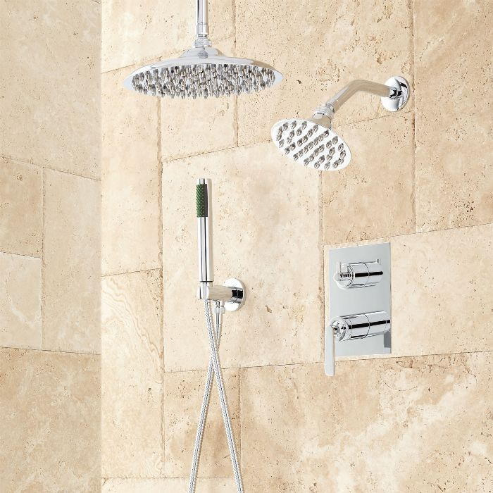 Trimble Dual Shower Head Shower System with Hand Shower