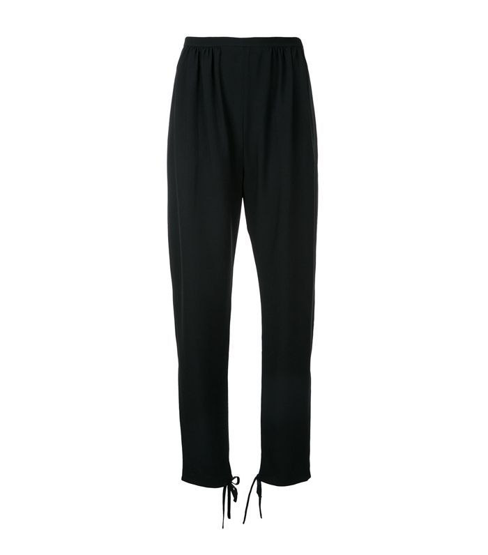 tie ankle cuff trousers