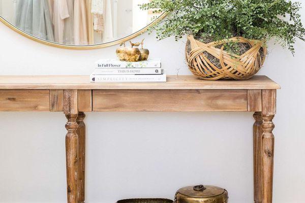 Wood buffet table