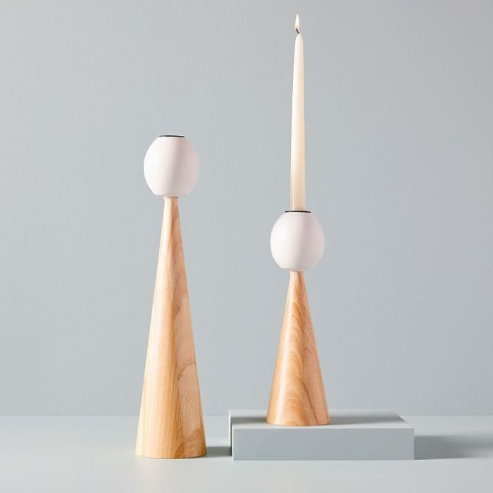 West Elm KleinReid Tall Pillar Candleholders