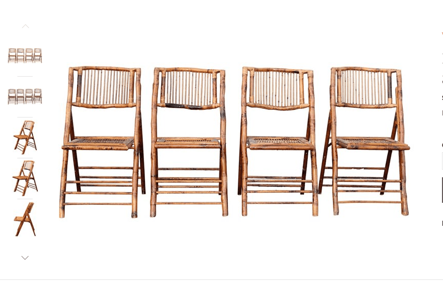 Faux Bamboo Folding Chairs