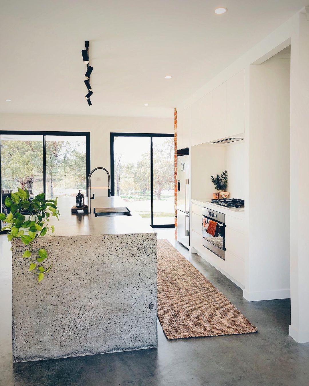 12 Concrete Kitchen Countertops Design