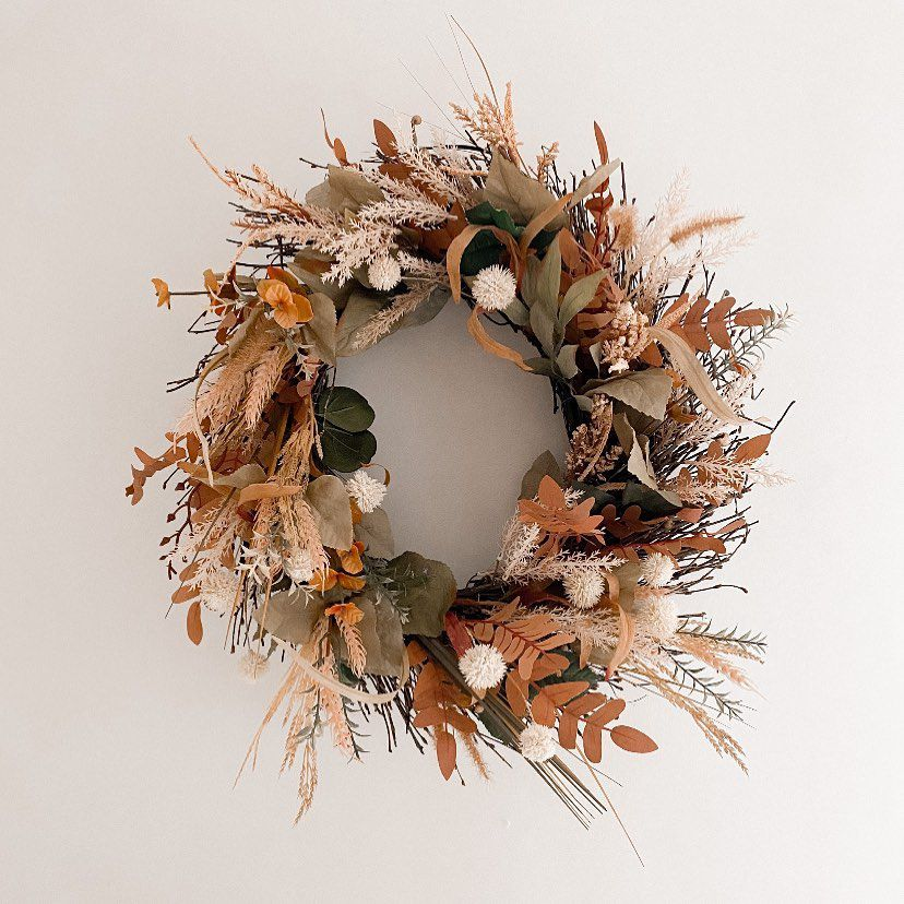 muted fall wreath