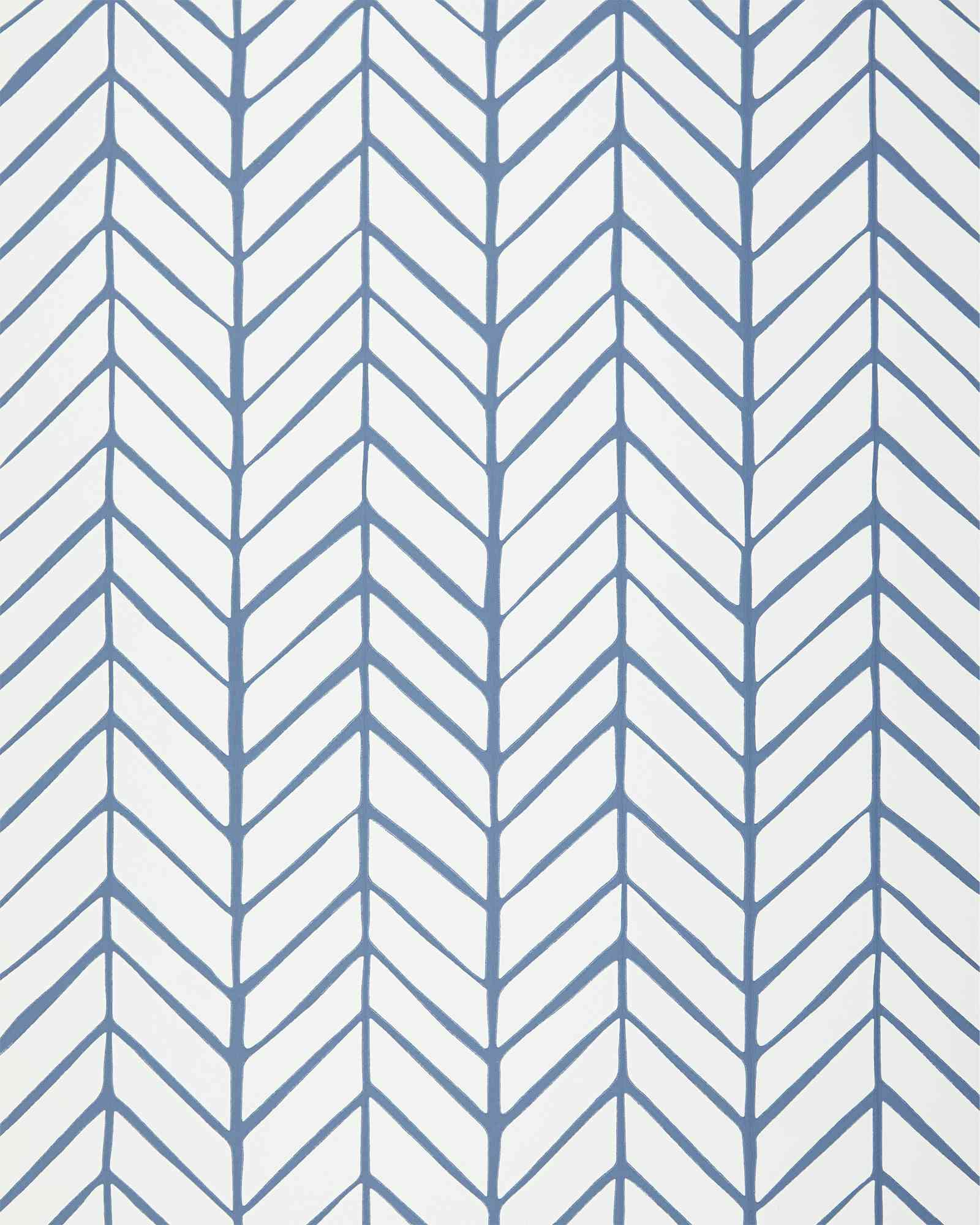 Feather Wallpaper in Blue
