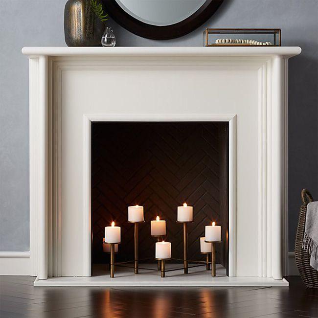 fireplace candleabra