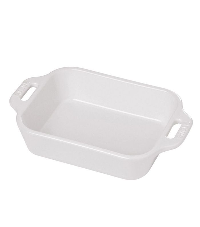 White Ceramic Rectangular Baking Dish