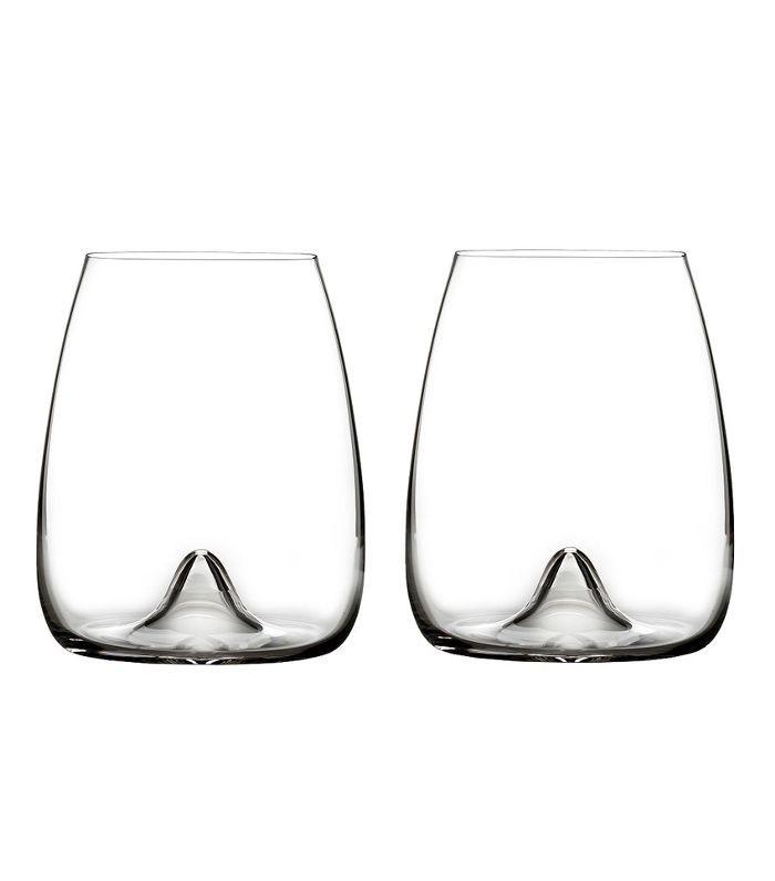 Elegance Stemless Wine Glass, Pair