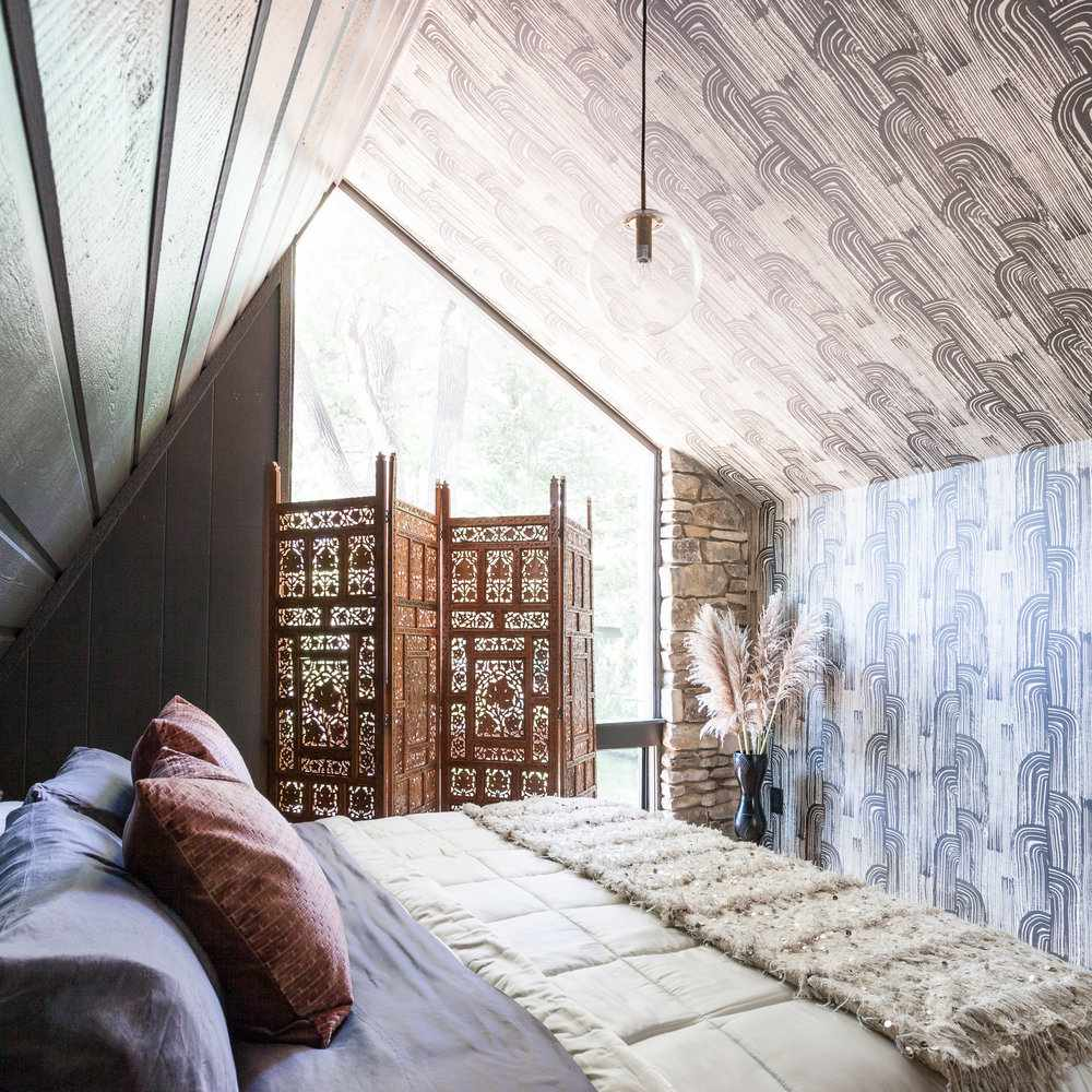 wallpaper bedroom ceiling