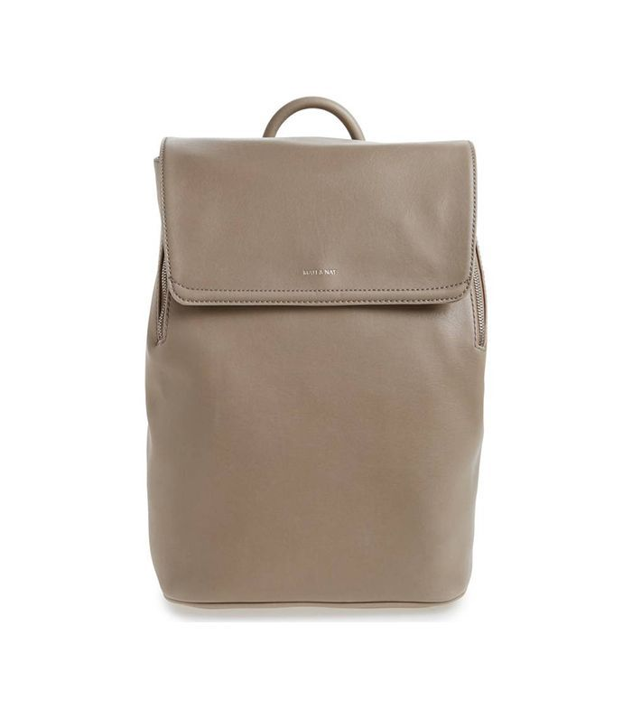 'Fabi' Faux Leather Laptop Backpack -