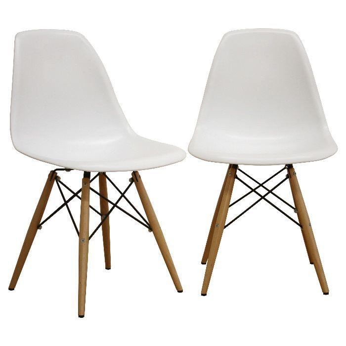 Baxton Studio Azzo Plastic Dining Chairs (Set of 2)
