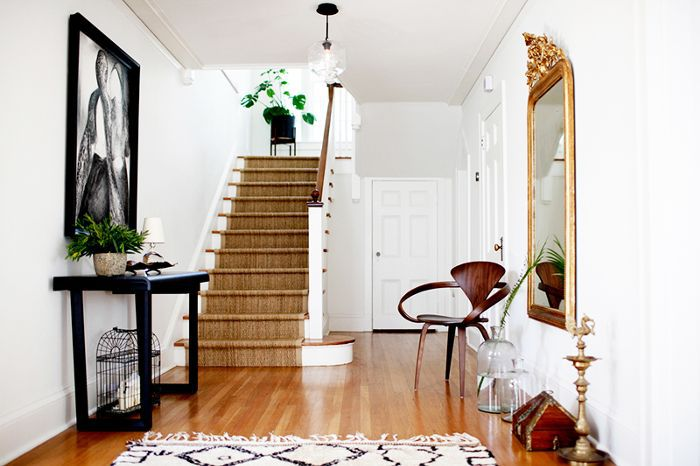 entryway in renovated Seattle home