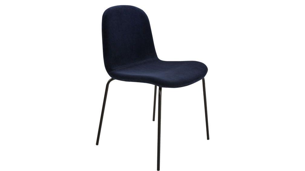 Primitivo Navy Blue Velvet Dining Chair