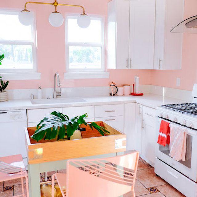 Bubblegum pink kitchen