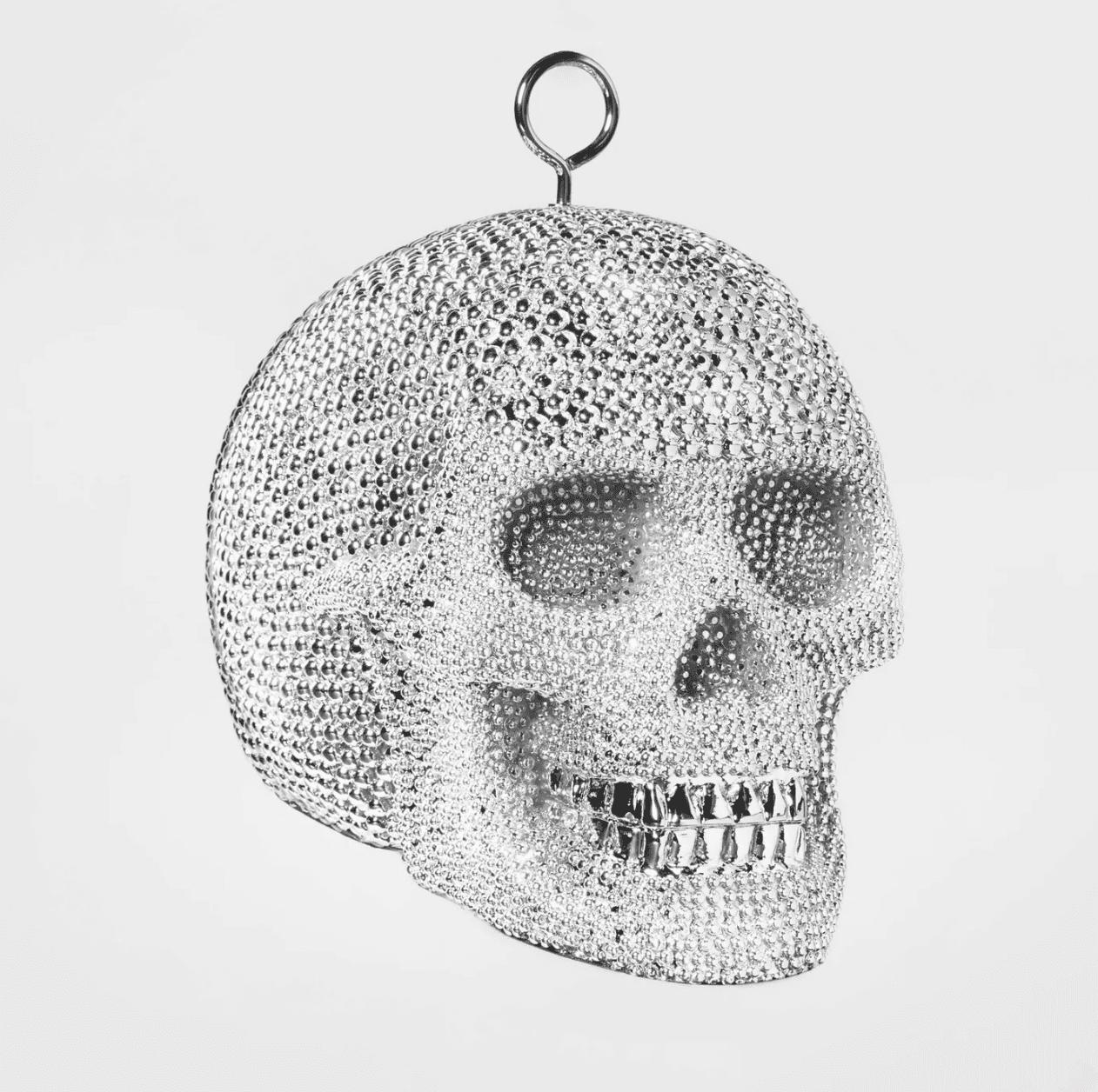 skull disco ball