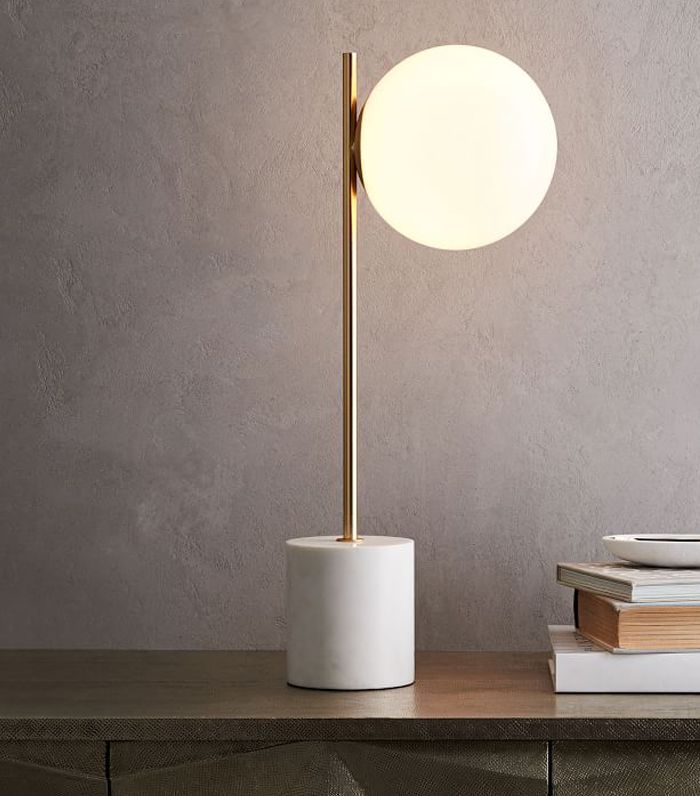 Sphere + Stem Table Lamp