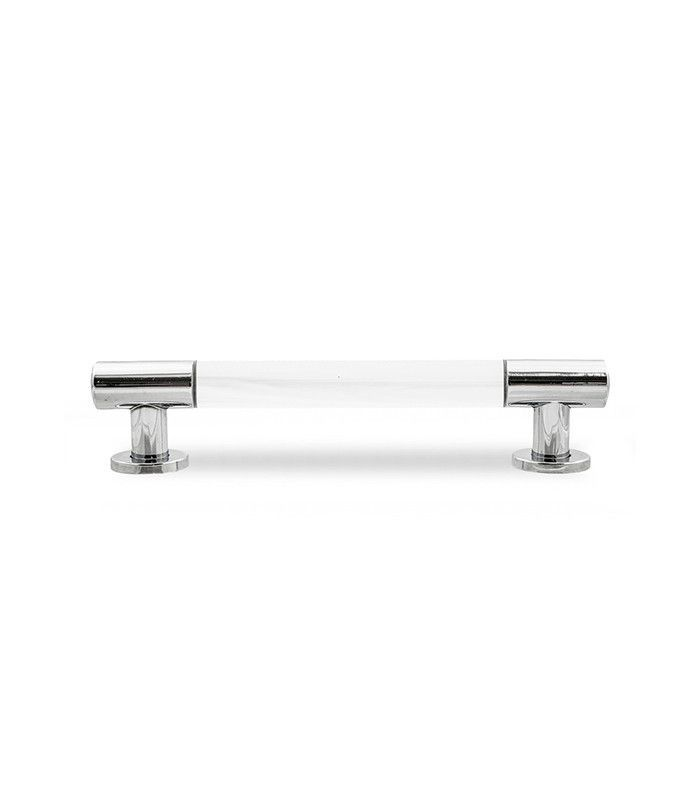 Mod Shop Lucite and Chrome Bar Pull