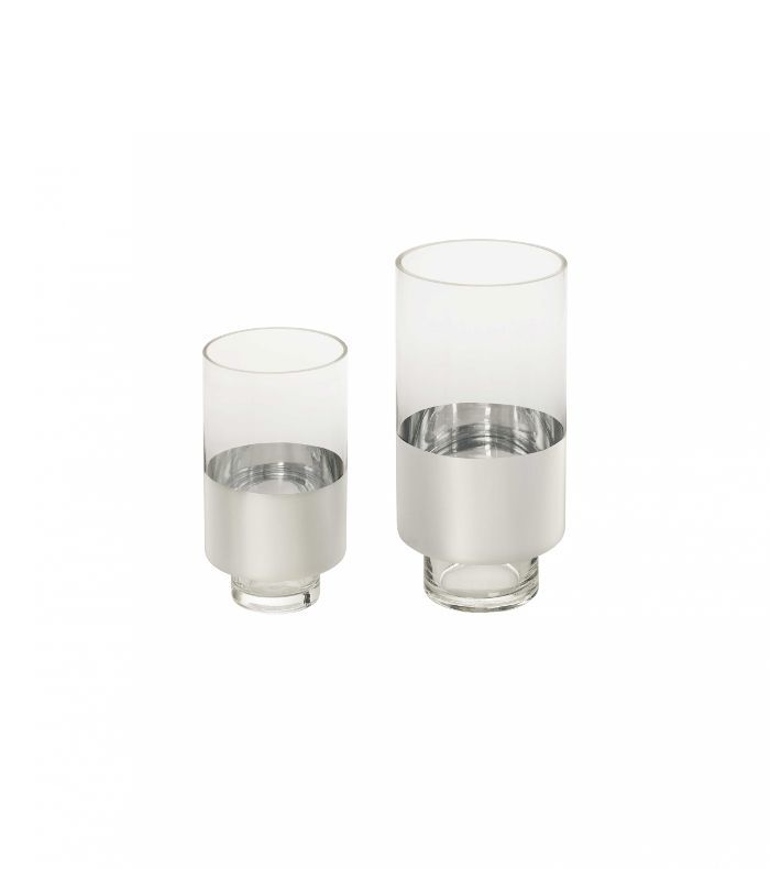 Nate Berkus for Target Silvered Glass Hurricane Large
