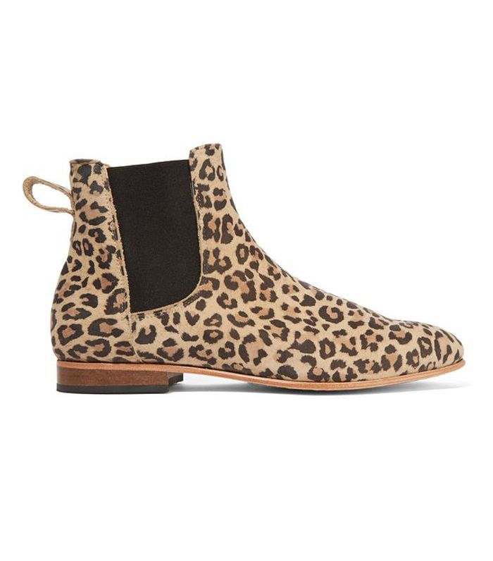 Troy Leopard-print Suede Ankle Boots