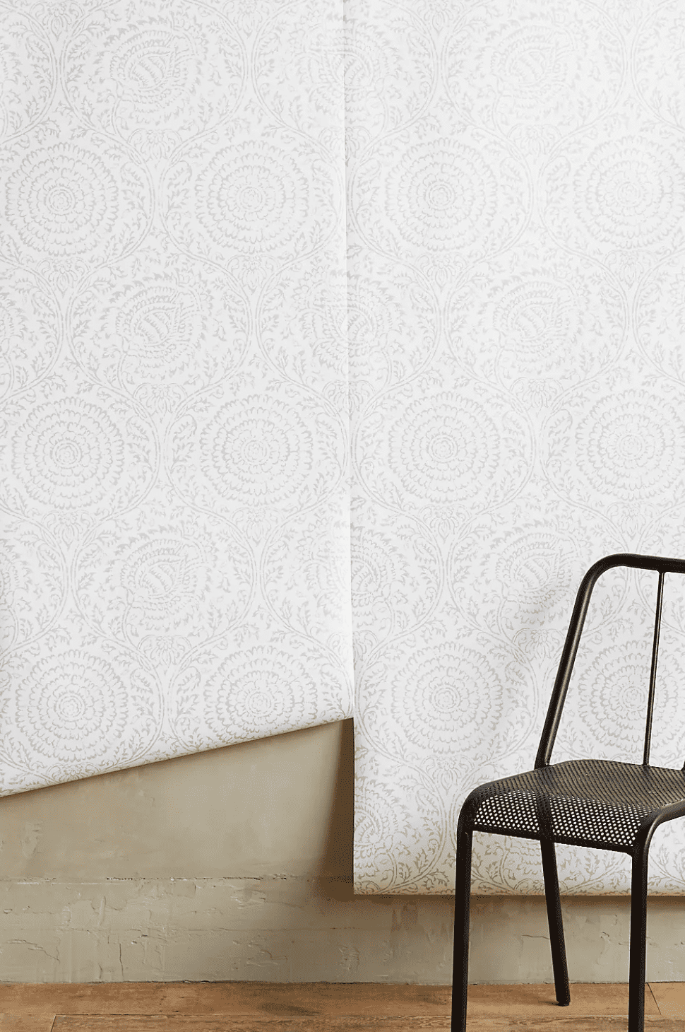Subtle floral printed wallpaper, which is currently for sale at Anthropologie